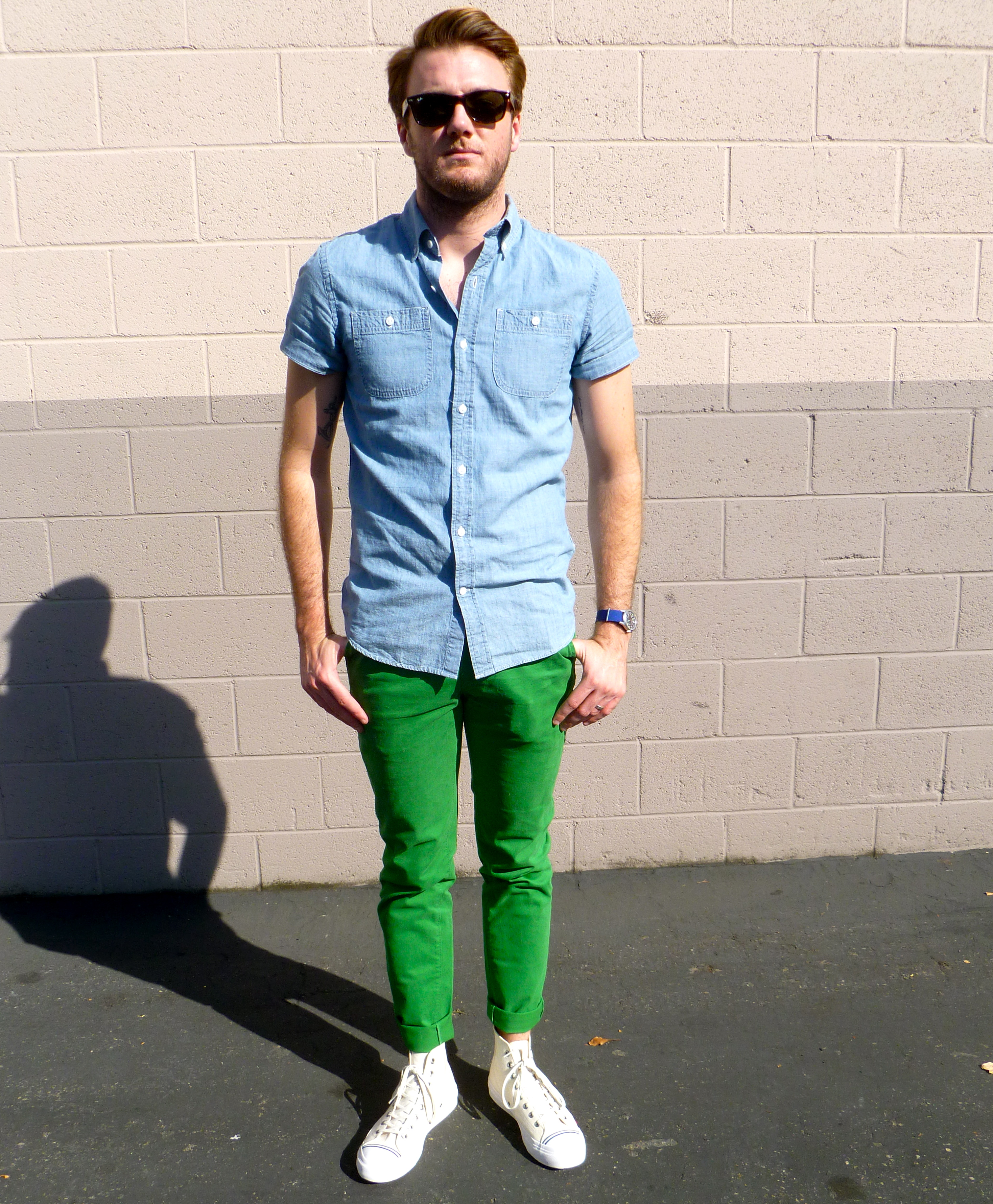 What To Wear With Bright Green Pants