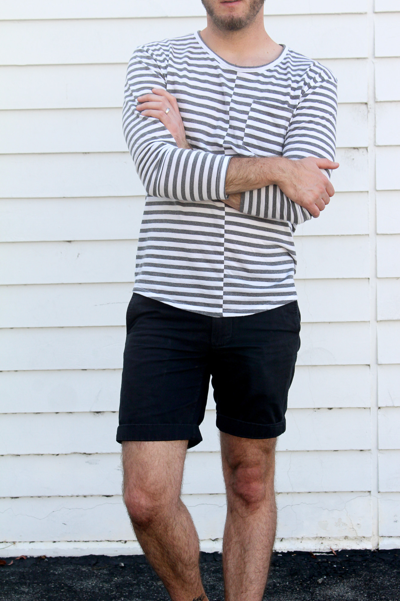 Striped Mens Casual Look 4
