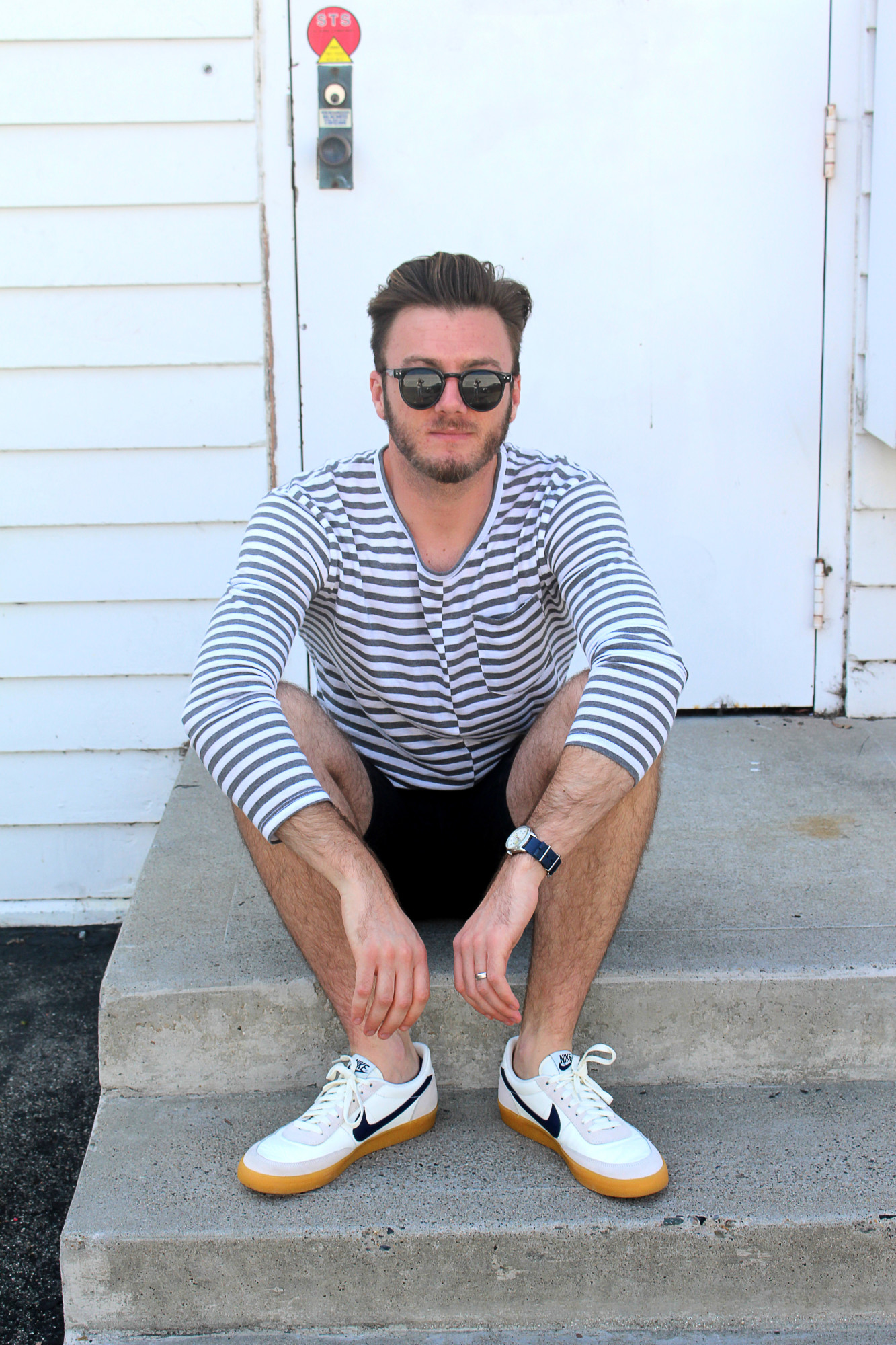 Striped Mens Casual Look 7