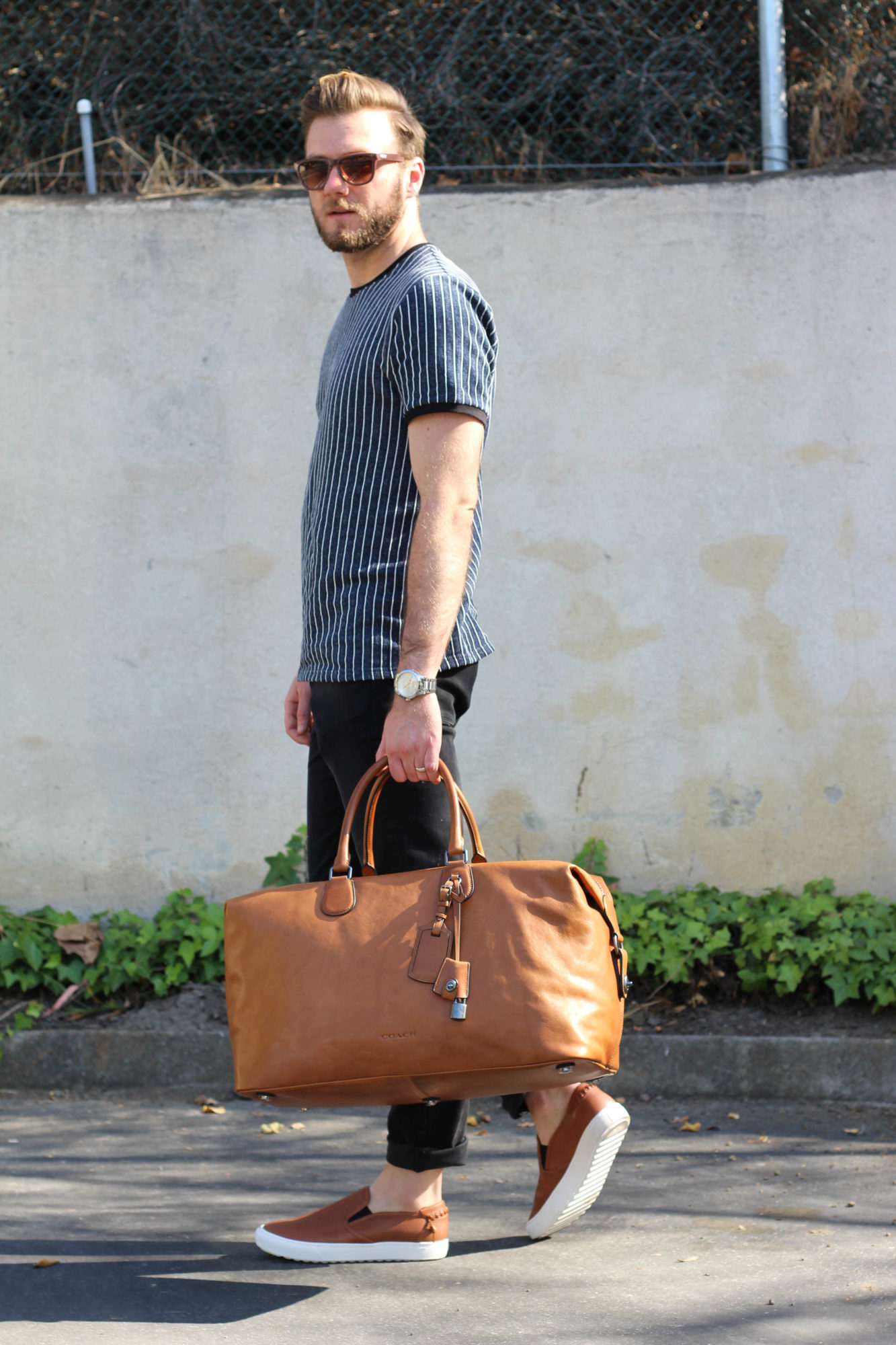 Coach Leather Luggage and Shoes-10