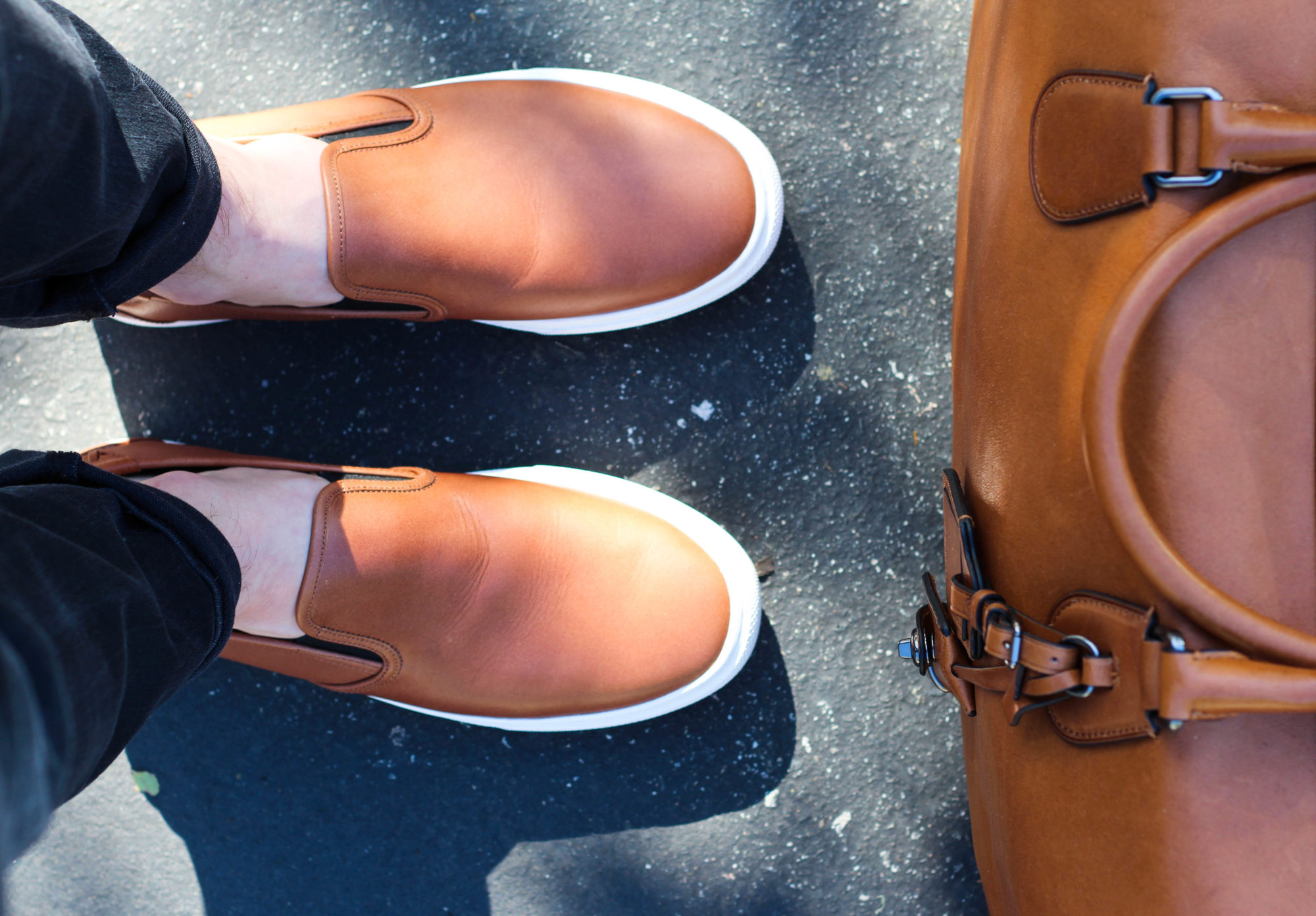 Coach Leather Luggage and Shoes-12
