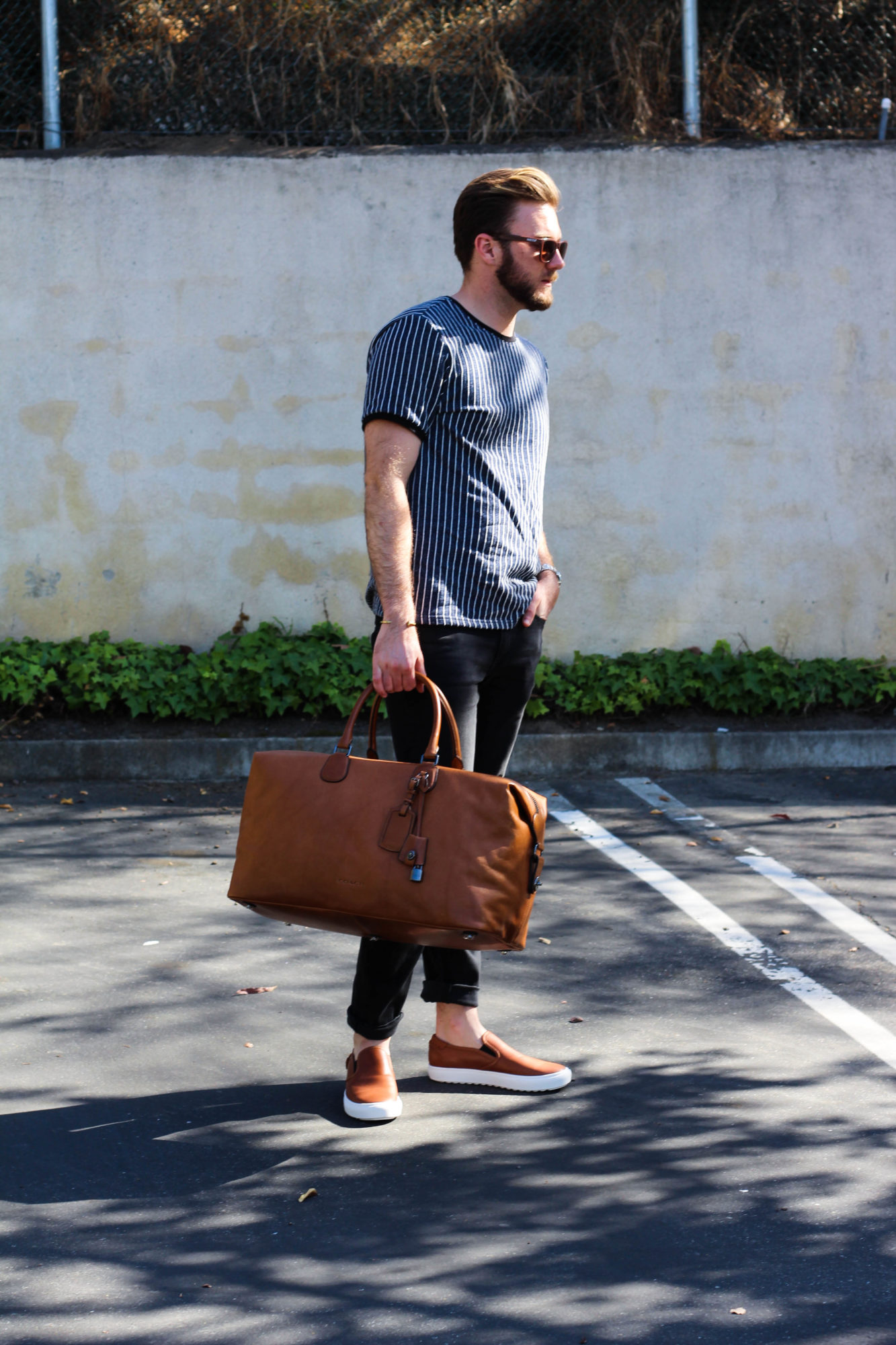 Coach Leather Luggage and Shoes-3