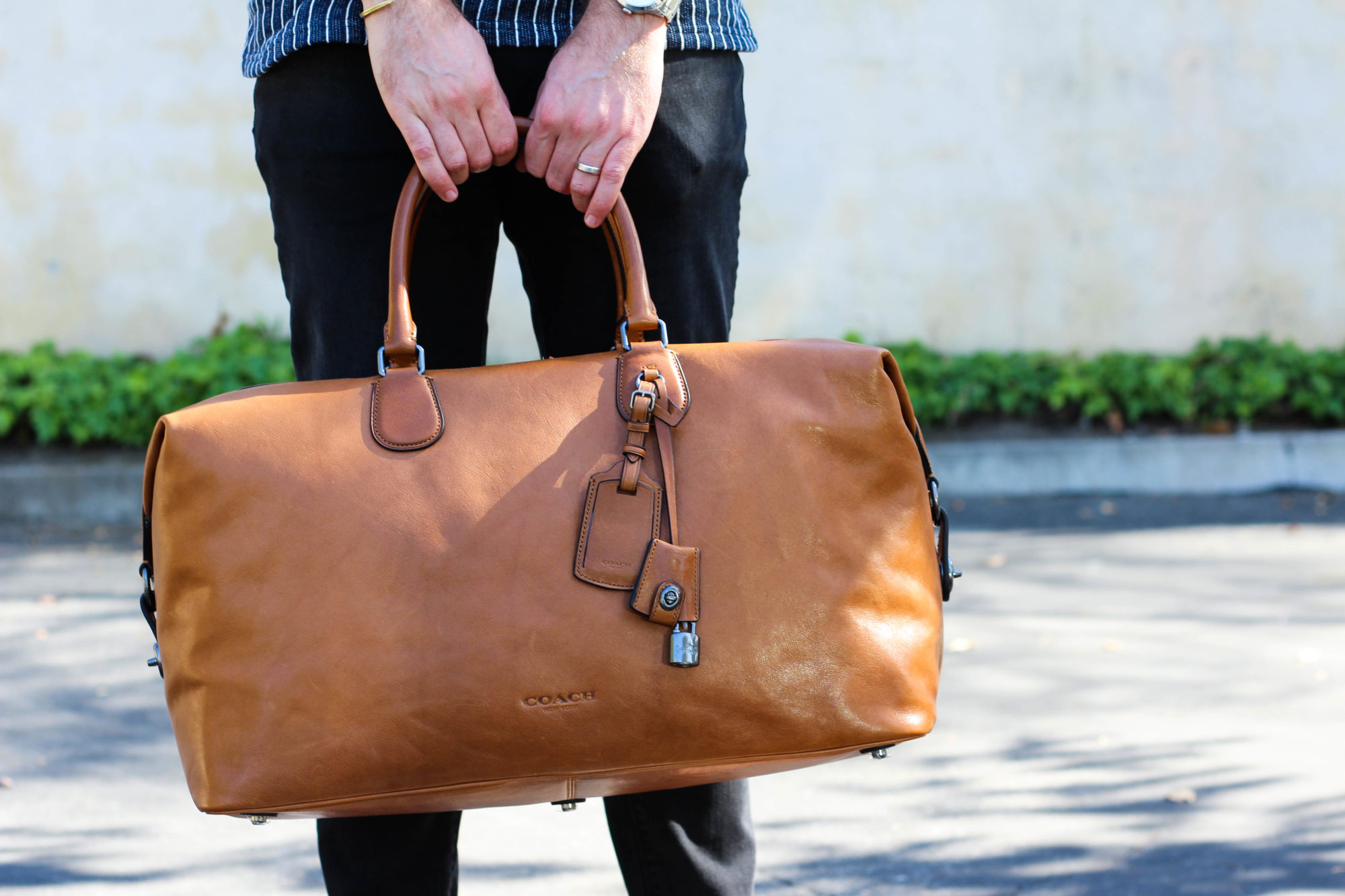 Coach Leather Luggage and Shoes-5