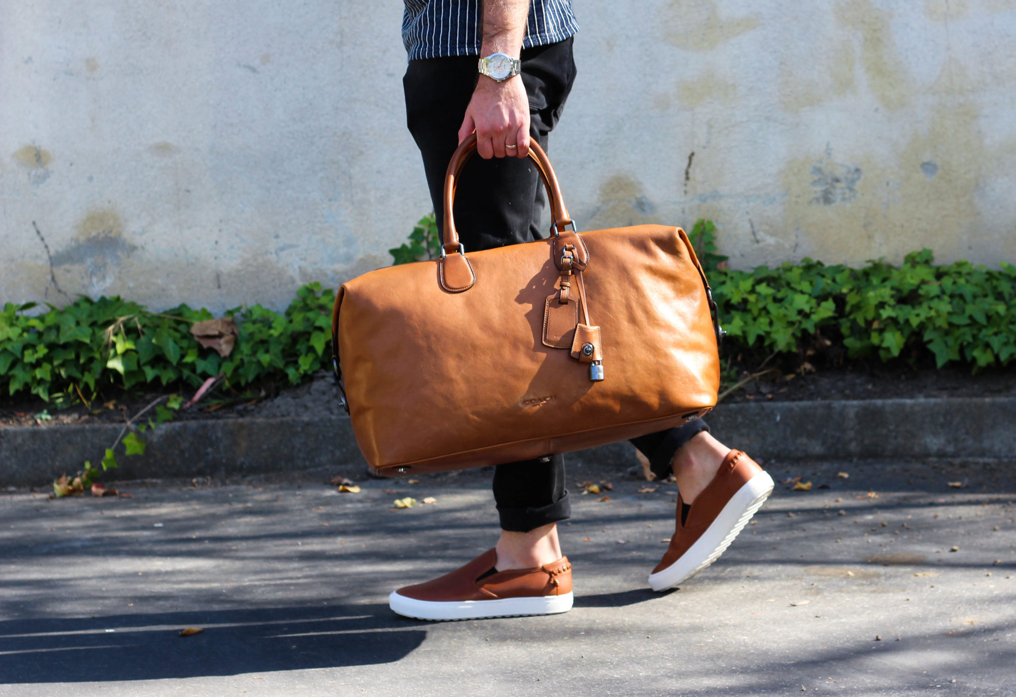 Coach Leather Luggage and Shoes-9