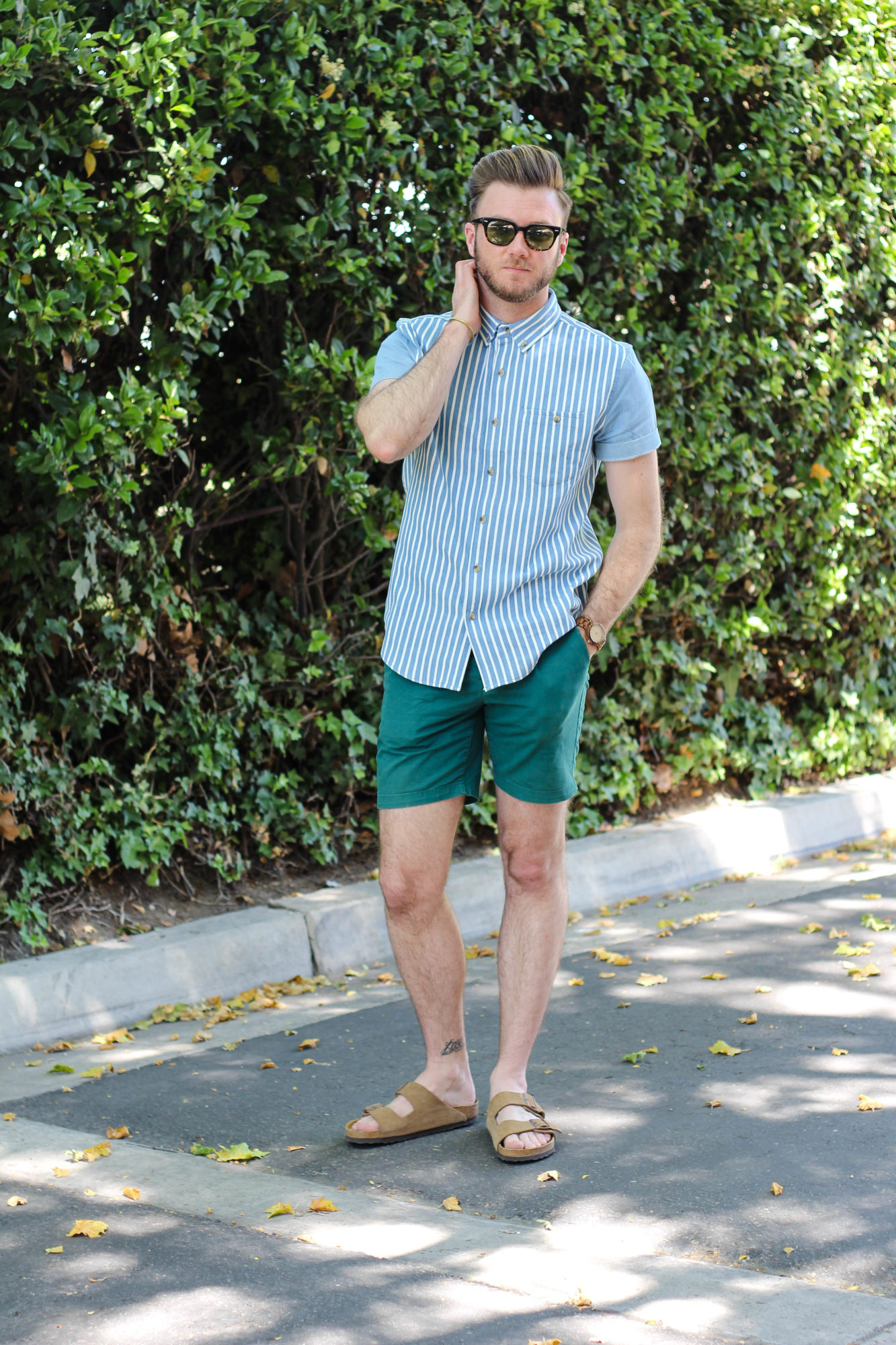 Mens Spring Striped Chambray-11