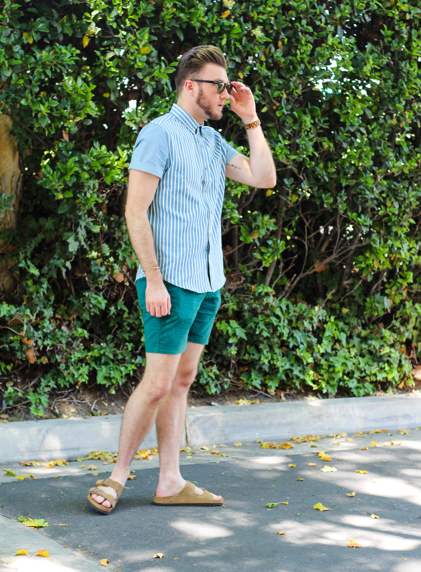 Mens Spring Striped Chambray-4