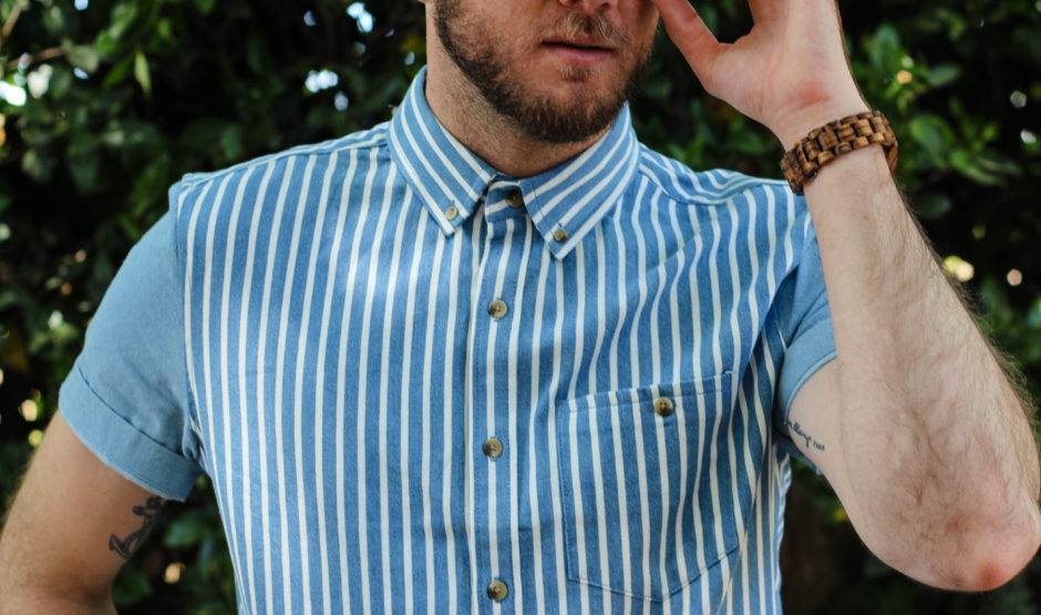 Mens Spring Striped Chambray-7