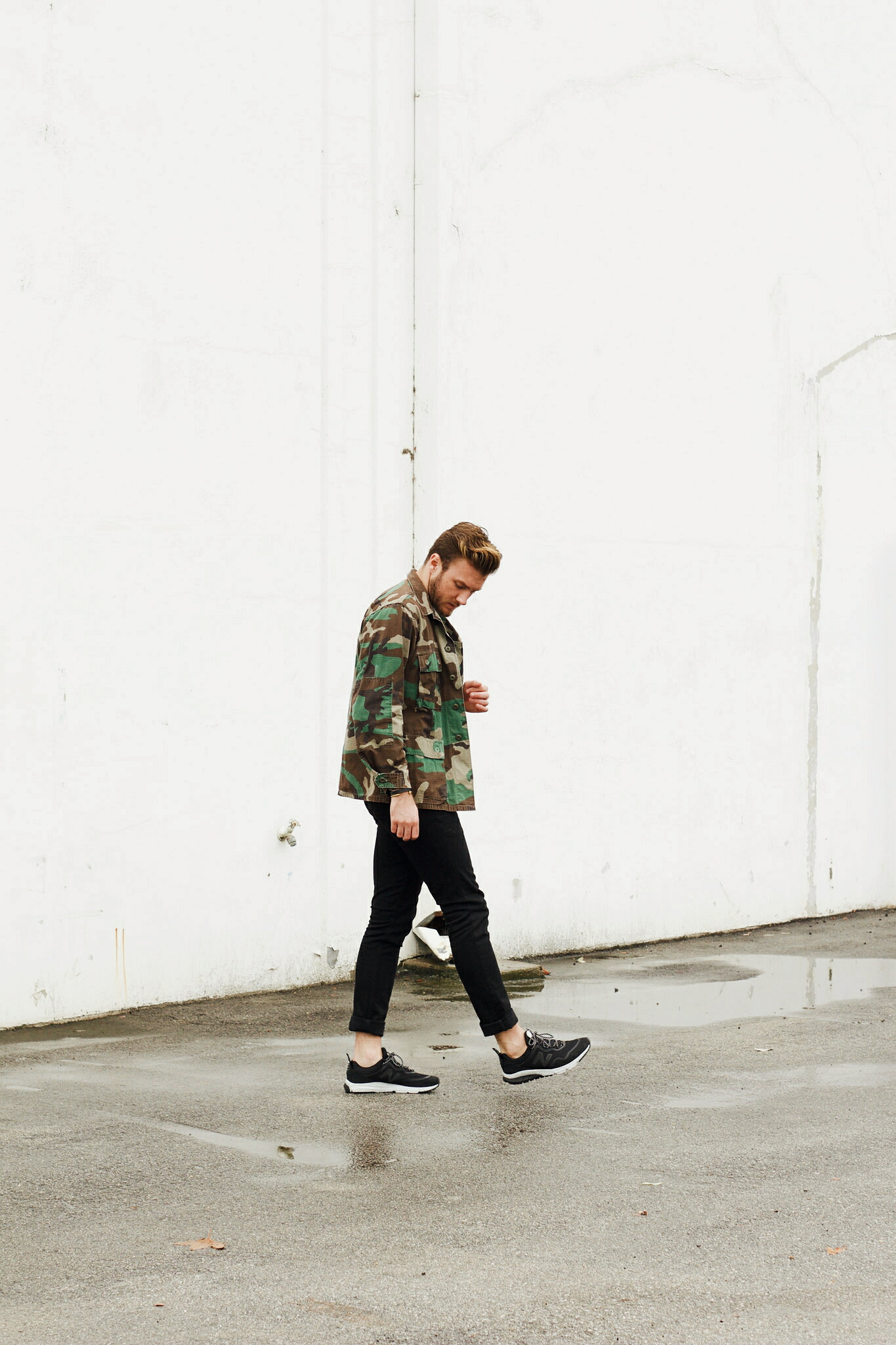 Vintage Camo Jacket and Sneakers 10