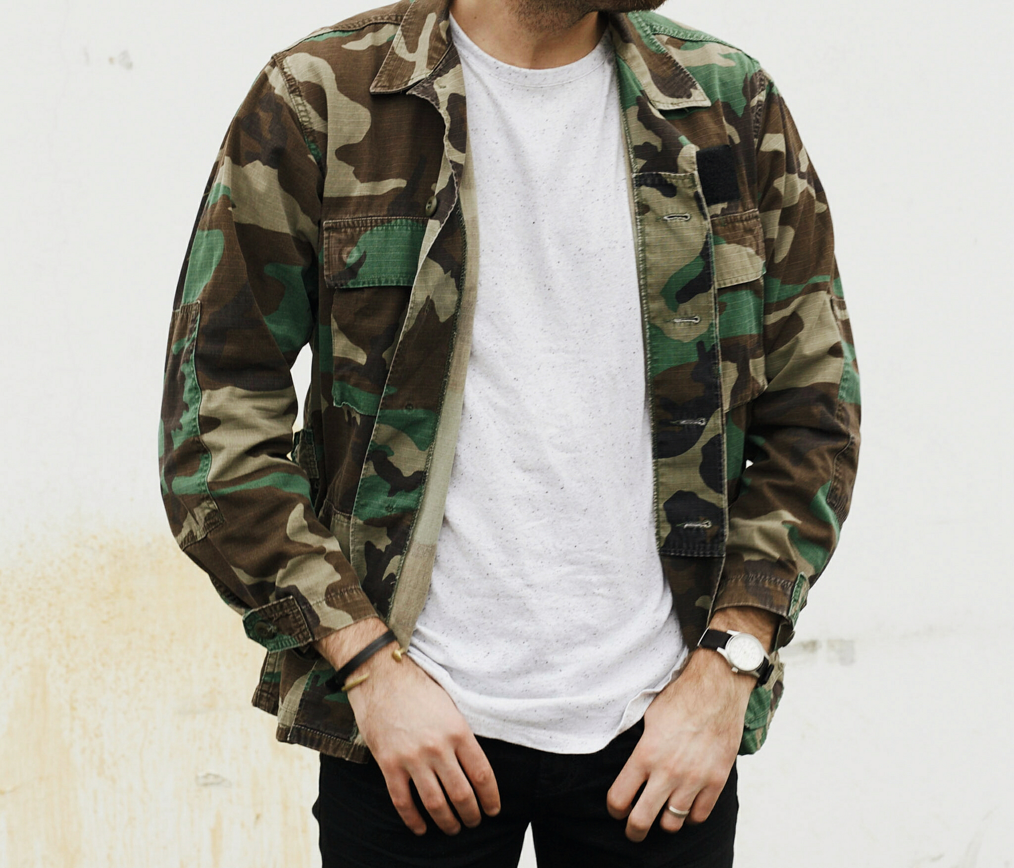 Vintage Camo Jacket and Sneakers 8