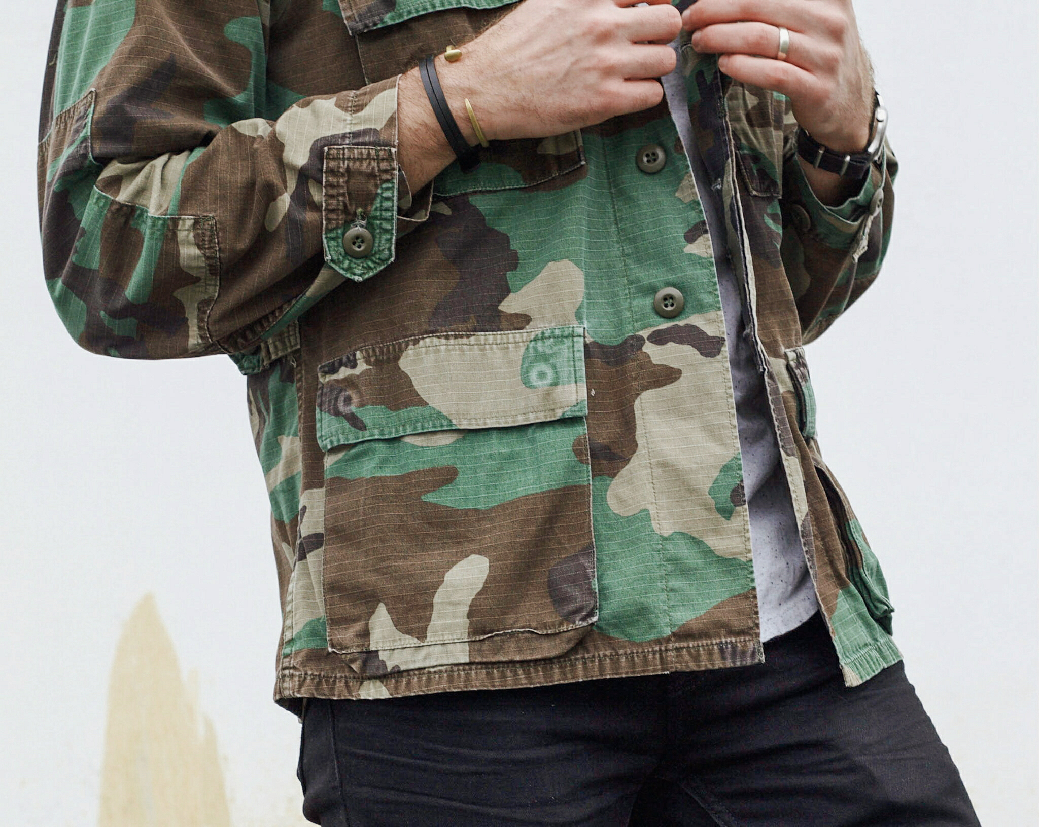 Vintage Camo Jacket and Sneakers 5