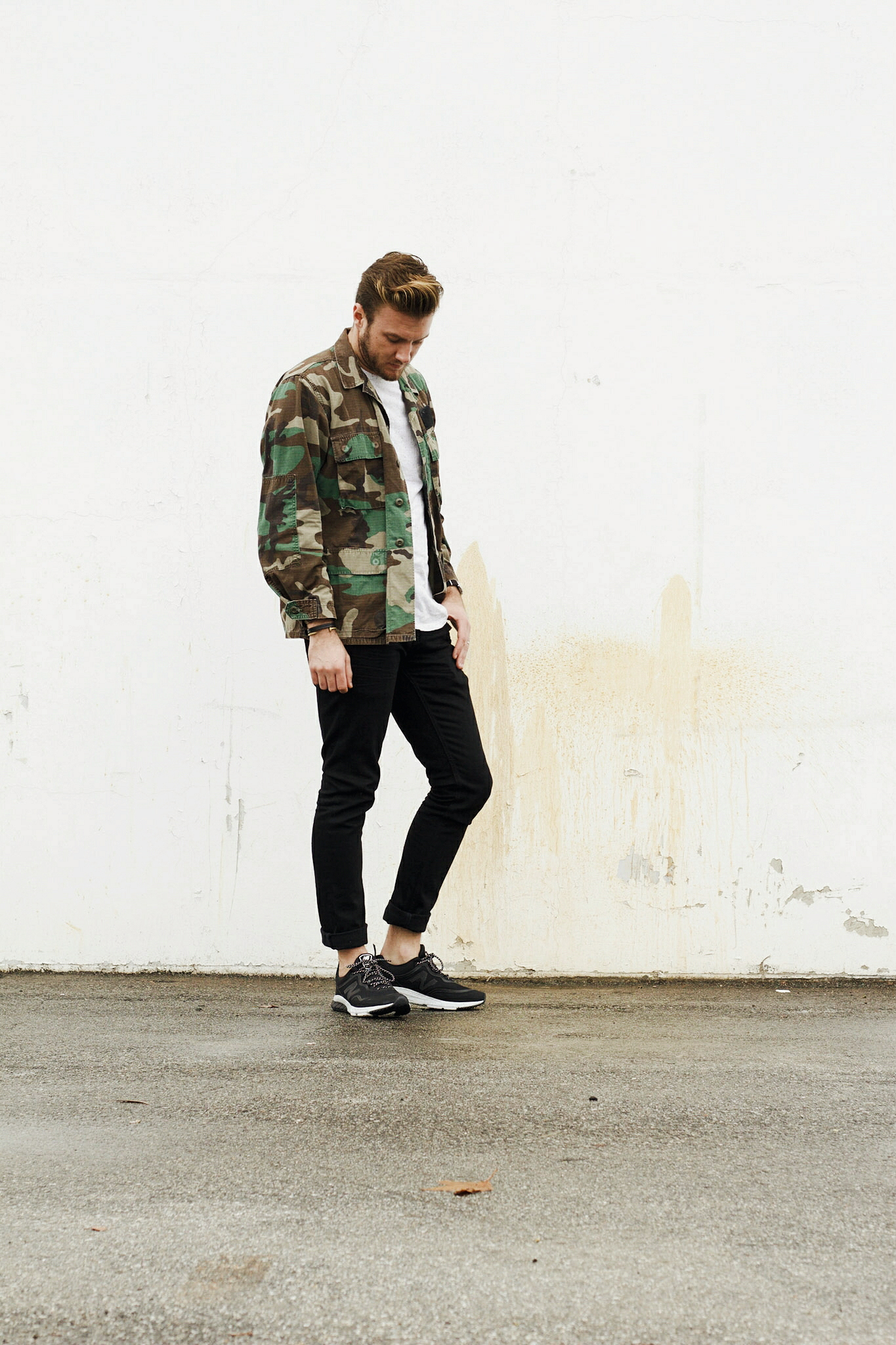 Vintage Camo Jacket and Sneakers 7