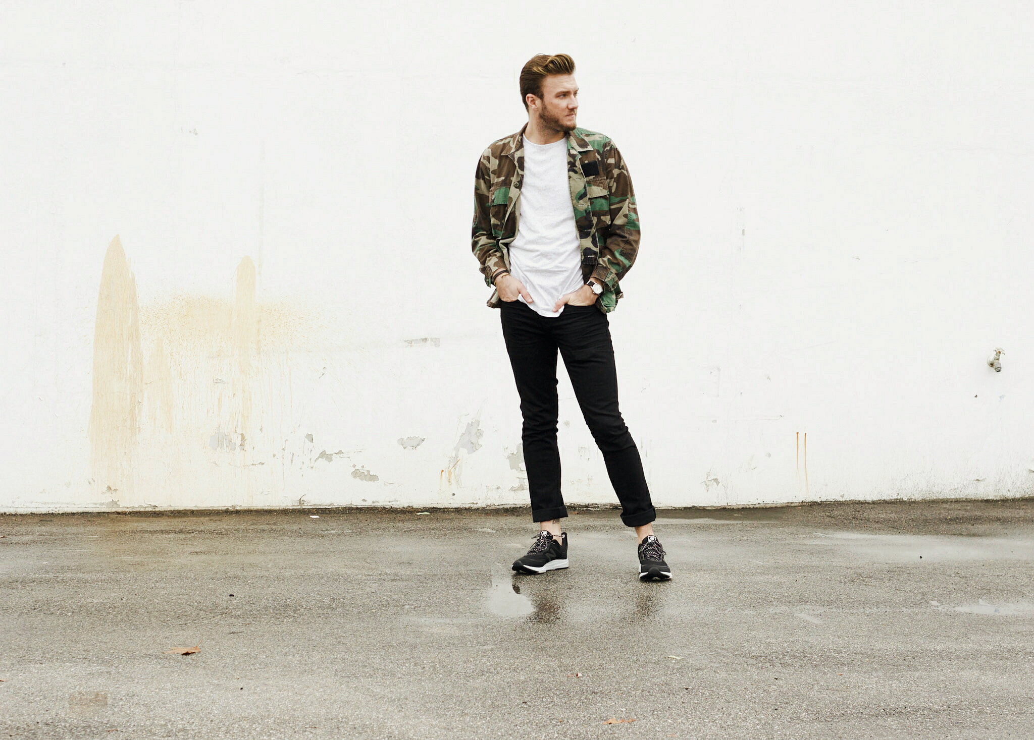 Vintage Camo Jacket and Sneakers 3