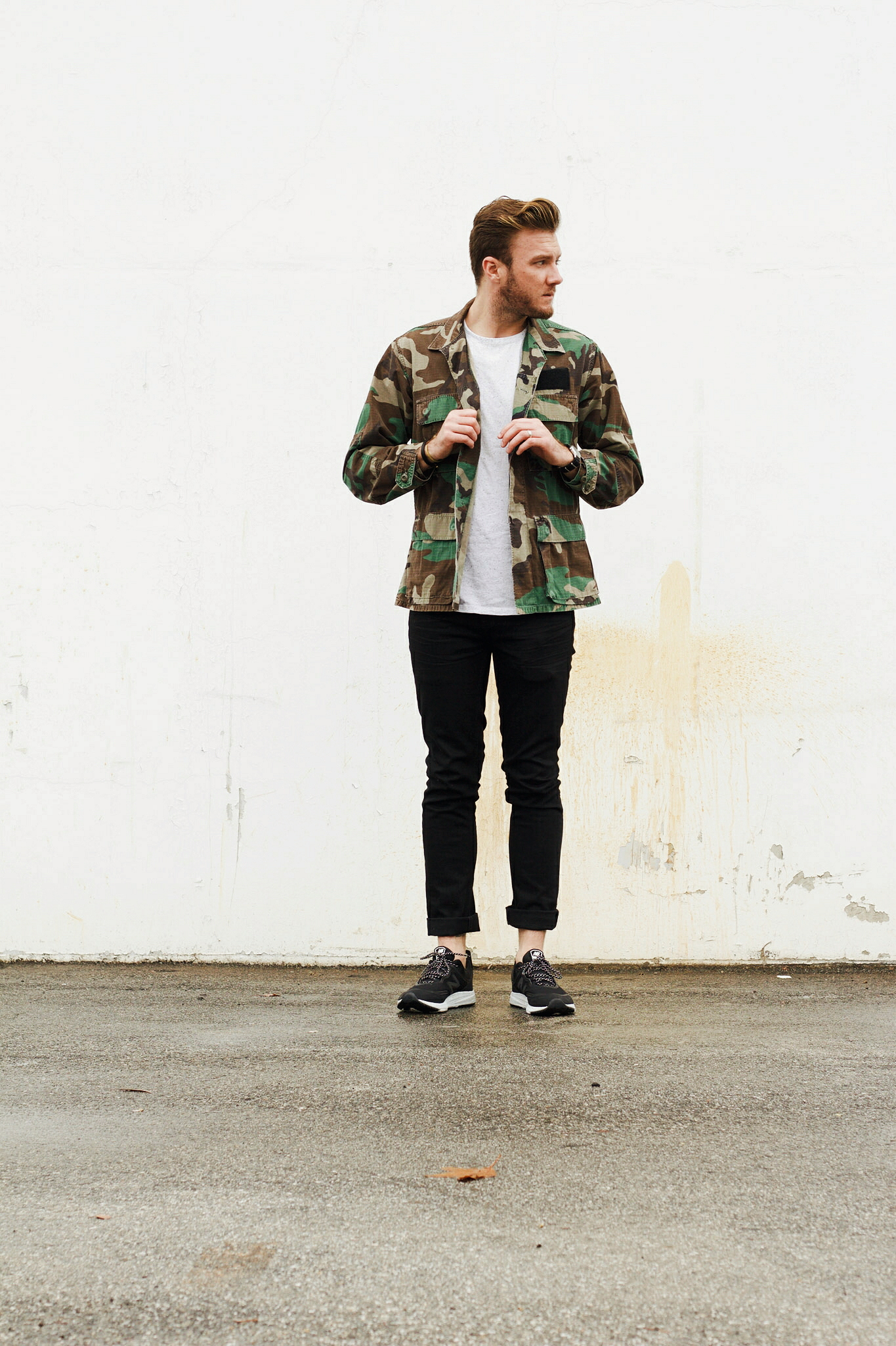 Vintage Camo Jacket and Sneakers 2