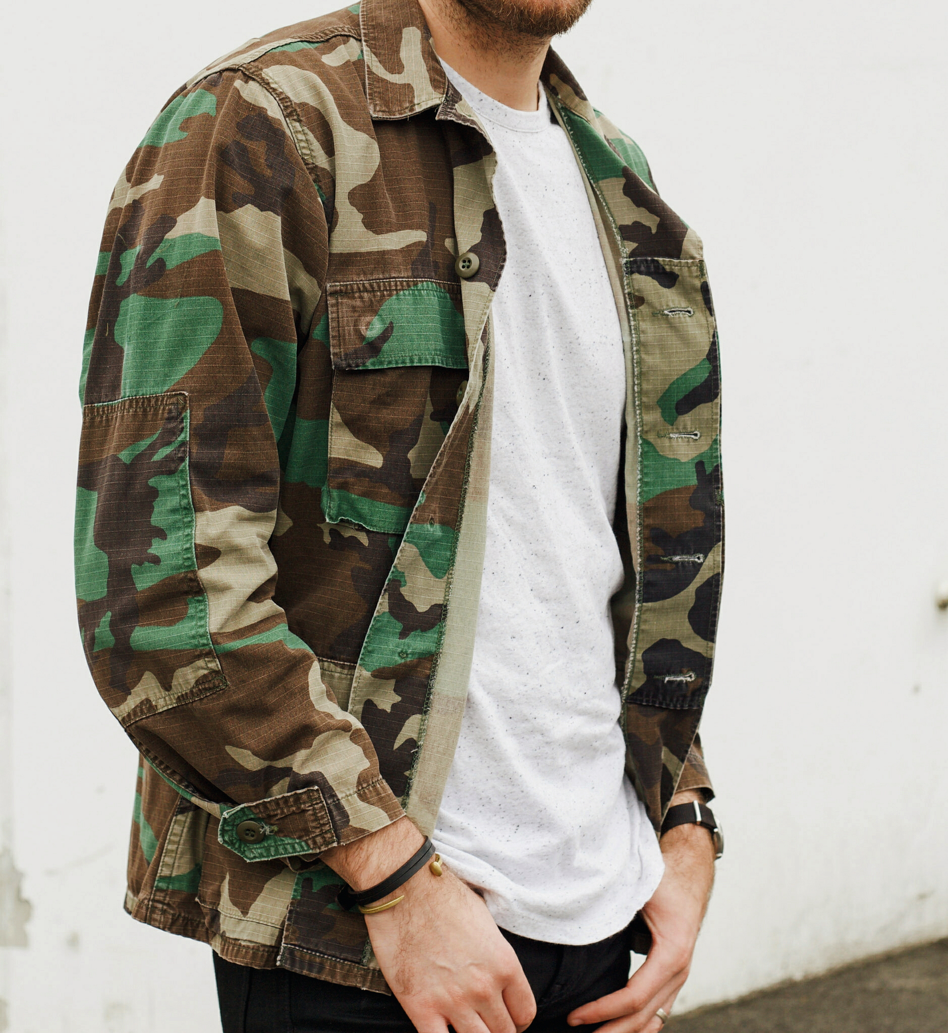 Vintage Camo Jacket and Sneakers 13